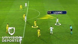 'Chucky' Lozano se estrenó a lo grande en la UEFA Champions League