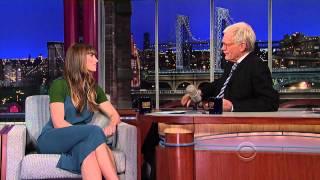 Jessica Biel - David Letterman November 19, 2012