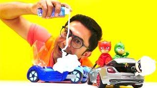pJ Masks oyuncakları! 💥 #NailBaba PJ Maskeliler`in arabasını tamir ediyor 🔧🚙 #erkekçocukvideoları