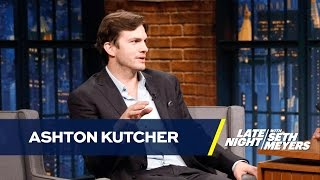 Ashton Kutcher Taught Daughter to Swear at the Dog