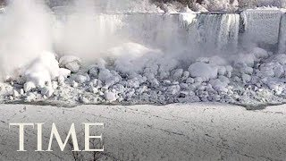 Extreme Temperatures Have Frozen Parts Of Niagara Falls | TIME