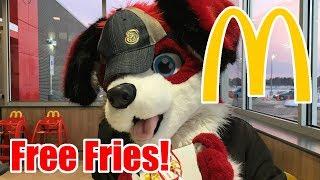 Fursuiting at McDonald