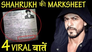 4 Amazing Things About SHAHRUKH KHAN's VIRAL Old Mark Sheet .