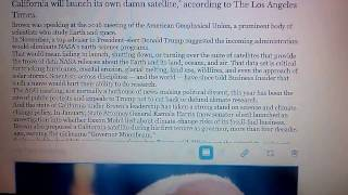 Jerry Brown If Trump turns off the satellites, California will launch its own damn satellite