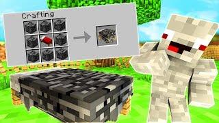 Er kann das BETT aus BEDROCK nicht abbauen😂.. Minecraft LUCKY BLOCK BEDWARS BATTLE