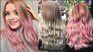 HAIR TRANSFORMATION (1 Year of root growth to Pink Balayage) | sophdoesvlogs