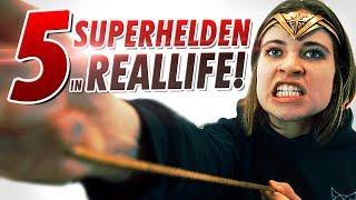 5 SUPERHELDEN in REALLIFE!