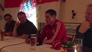 Sebastian Rudy beim FC-Bayern-Fanclub in Petting