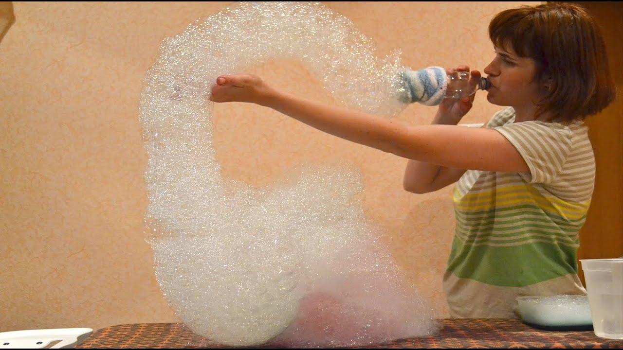 Как сделать раствор больших мыльных пузырей в домашних условиях 955