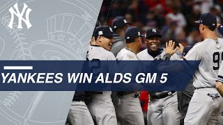See the Yankees close out the 9th inning of ALDS Gm5