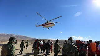 Iranian rescue teams search for wreckage of crashed passenger plane
