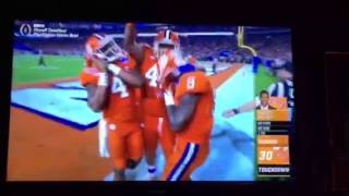 Clemson football player grabs and thrust #42