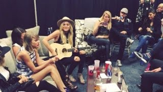 Taylor Swift has backstage singing sessions with Little Big Town