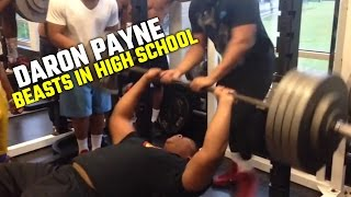 Daron Payne Bench presses 460 lbs in High school