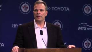 Jets GM Cheveldayoff on firing Noel and hiring Maurice