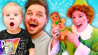 DECORATING GIANT GINGERBREAD MEN COOKIES!!! ✨ (W/ Buddy the ELF!!!)