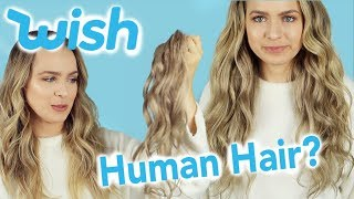 I Tried $11 WISH Hair Extensions - Are Cheap Hair Extensions Worth it?? - KayleyMelissa