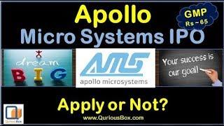 Apollo Micro Systems Ltd IPO | Apollo Microsystems IPO | Apolo Micro Systems Details |Quriousbox