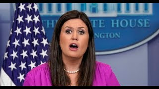 WATCH: Press Secretary Sarah Huckabee Sanders White House Press Briefing on North Korea, NFL