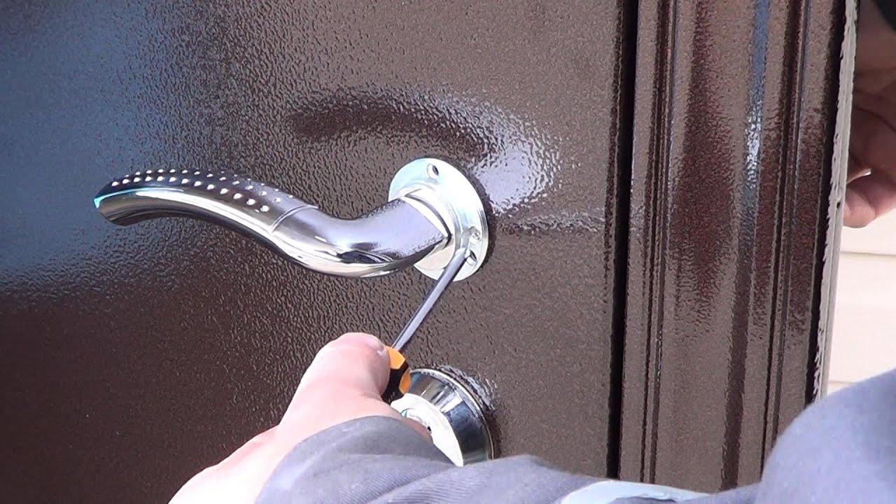 Установка дверей металлических своими руками