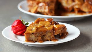 Upside-Down Peanut Butter Banana French Toast Bake