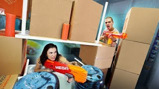NERF Build Your Box Fort Team Challenge!