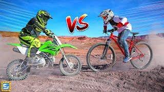 Epic Dirt Bike vs  Mountain Bike Adventure!