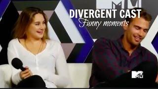 ► Divergent Cast ll Funny Moments