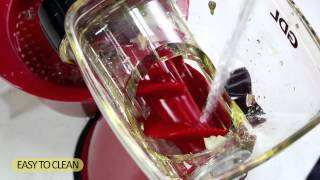 manual slow Juicer & Mincer meat grinder (PS-308B) on black & red color