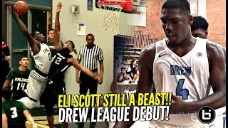 CHINO HILLS BABY!! Eli Scott GOES OFF In Drew League Debut!! Got That Draymond Green Game!