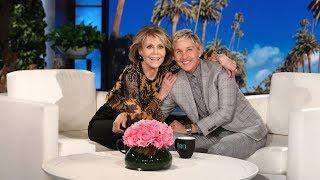 Ellen Shows Jane Fonda How to Walk the Runway