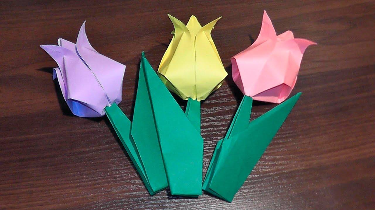 Оригами из бумаги видео за 3 класс