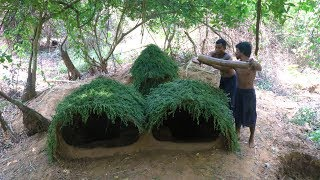 Upgrade Underground House ( Plant grass on House )
