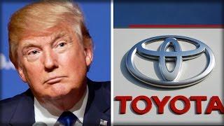 HAHA!!! TOYOTA STOCK HITS A POTHOLE AFTER TRUMP REBUKES JAPANESE AUTOMAKER