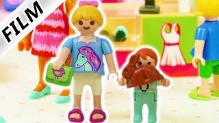 Playmobil Film Deutsch   MUTTERTAGS GESCHENK - Hannah + Emma im Einkaufszentrum   Familie Vogel