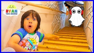 Ryan Exploring our secret spooky attic!!! What