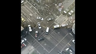 One dead, several injured after car hits pedestrians in Melbourne, shots reported