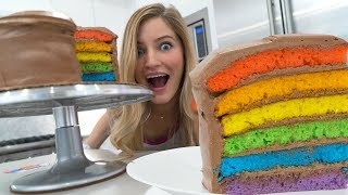🌈 How to make a Rainbow Cake!
