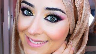 Barbie Makeup Pink & Gold Smokey Eye Tutorial