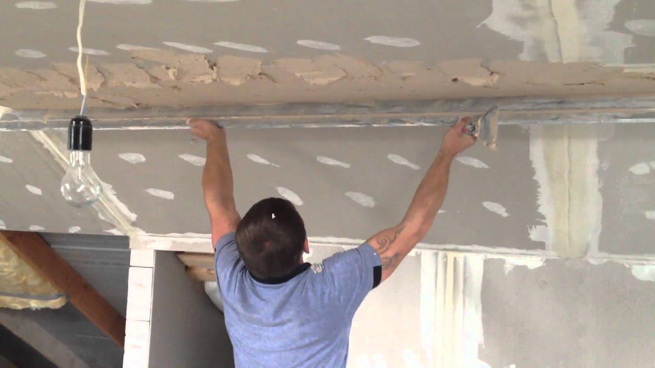 Шпаклевка стен и потолка из гипсокартона своими руками