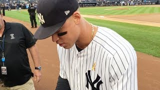 Getting close to Aaron Judge at Yankee Stadium