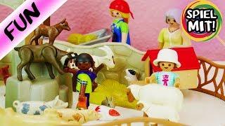 Playmobil Steichelzoo deutsch | Ausflug in den Zoo & niedliche Tiere steicheln | Ziegen, Hasen,...