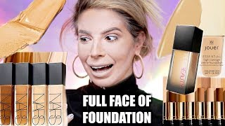 FULL FACE USING ONLY FOUNDATION   OMG..