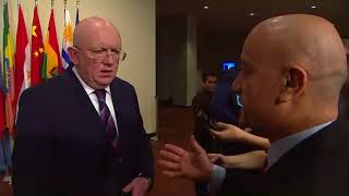 Vassily Nebenzia (Russia) on the situation in the Middle East - Media Stakeout