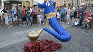 Genie Magic Lamp Levitation |  Street Performer
