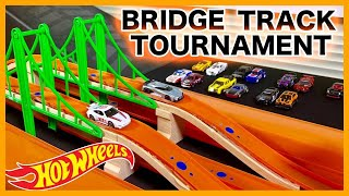 HOT WHEELS BRIDGE TRACK TOURNAMENT RACE