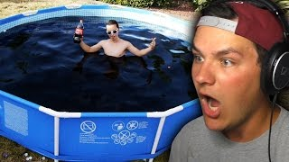 DUDE FILLS POOL WITH COCA-COLA!