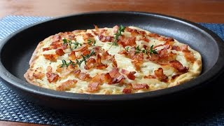 Tarte Flambée - Alsatian Bacon & Onion Tart - How to Make Tarte Flambée