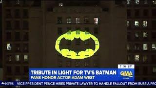 Adam West Tribute In L.A.  (Bat Signal)