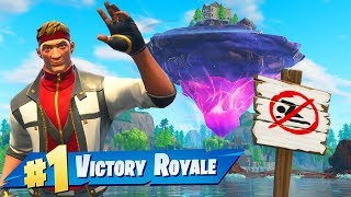 The MOVING ISLAND CHALLENGE In Fortnite Battle Royale!